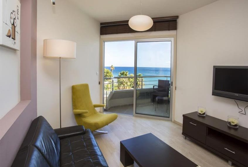 1 and 2 Bedroom Beachfront Apartments For Sale in Limassol