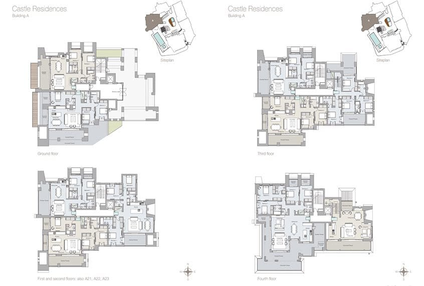 4 Bedroom Apartments For Sale in Limassol's Castle Residences