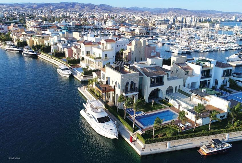 Three 3-Bedroom Island Villas For Sale in the Limassol Marina