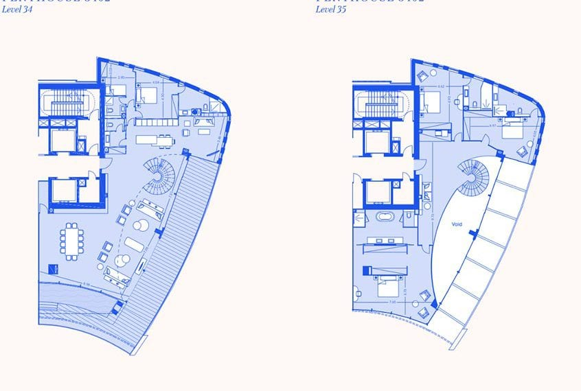 5 Bedroom Apartments For Sale in Limassol's Trilogy East Tower