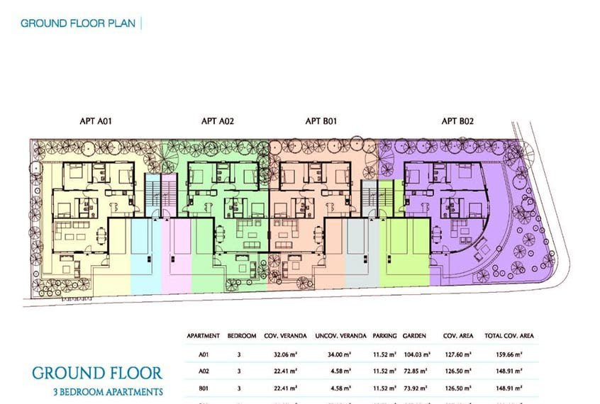 4 Bedroom apartments for sale in Paphos' Park Avenue