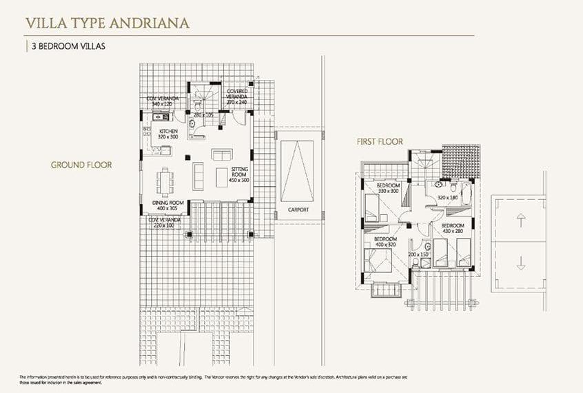 Villa for sale in Paphos, Venus Rock Resort, Villa Type Adriana