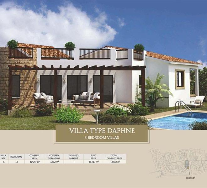 Villa for sale in Paphos, Venus Rock Resort, Villa Type Daphne