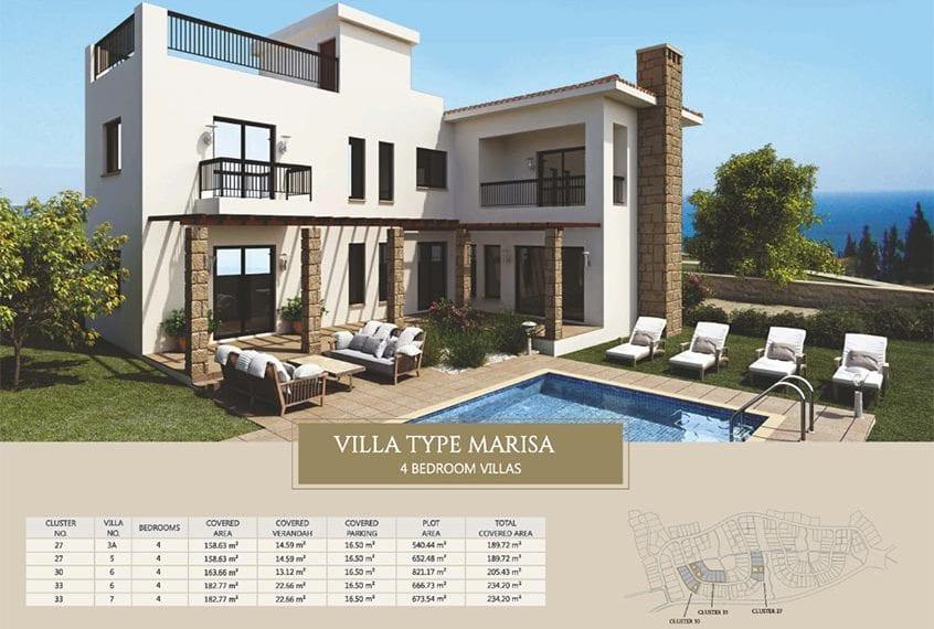 Villa for sale in Paphos, Venus Rock Resort, Villa Type Marisa