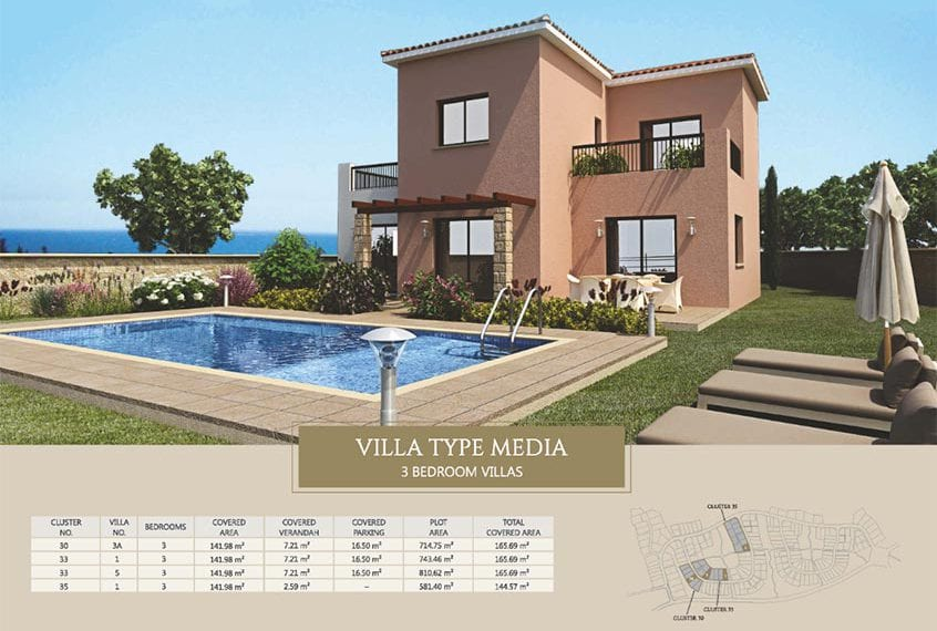 Villa for sale in Paphos, Venus Rock Resort, Villa Type Media