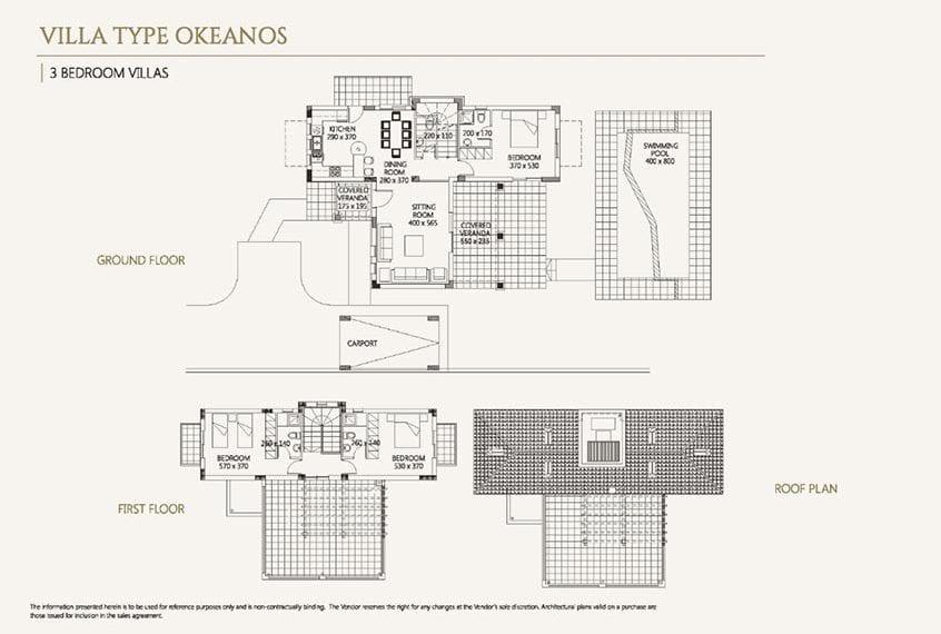 Villa for sale in Paphos, Venus Rock Resort, Villa Type Okeanos