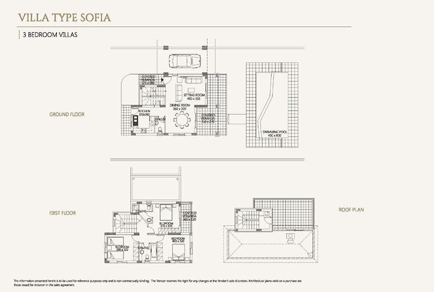 Villa for sale in Paphos, Venus Rock Resort, Villa Type Sofia