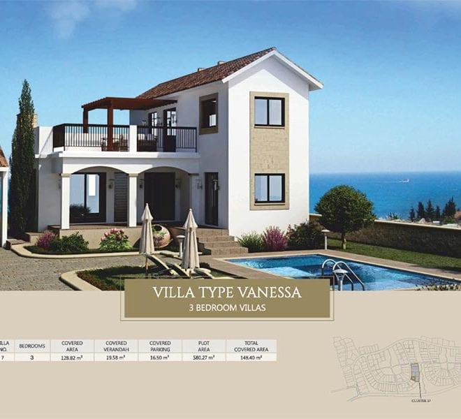 Villa for sale in Paphos, Venus Rock Resort, Villa Type Vanessa