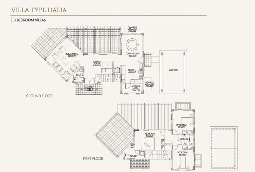 Villa for sale in Paphos, Venus Rock Resort, Villa Type Dalia