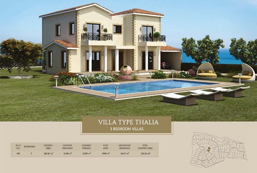 Villa for sale in Paphos, Venus Rock Resort, Villa Type Thalia