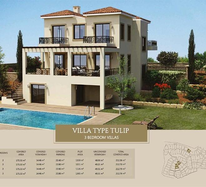 Villa for sale in Paphos, Venus Rock Resort, Villa Type Tulip