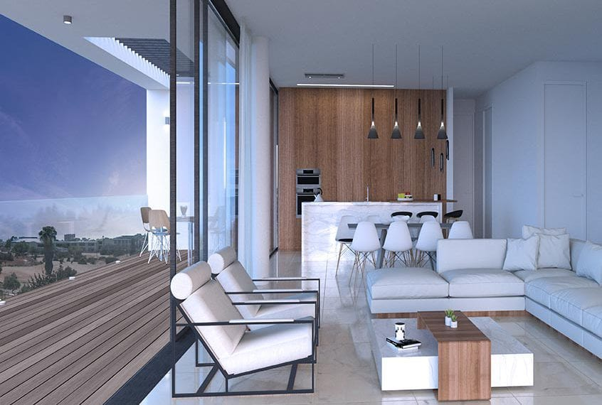 Modern 3 bedroom apartment for sale in Limassol 's Vetro Suites