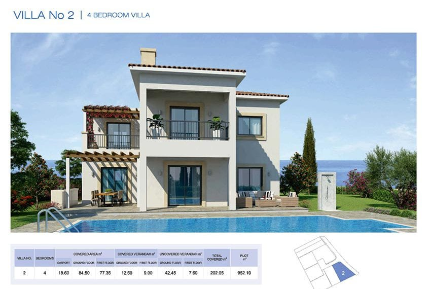 4 Bedroom Villa for sale in Paphos' Seacaves Residences, Type-2