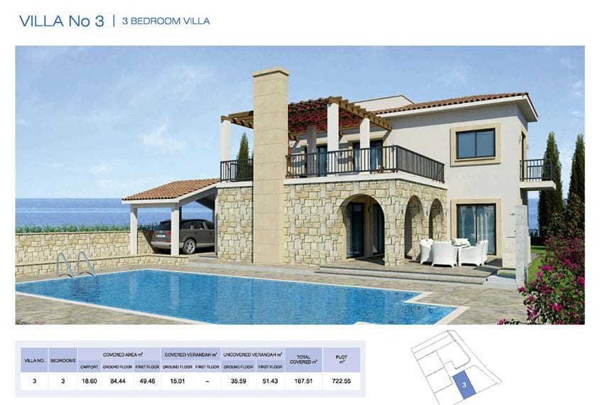3 Bedroom Villa for sale in Paphos' Seacaves Residences, Type-3