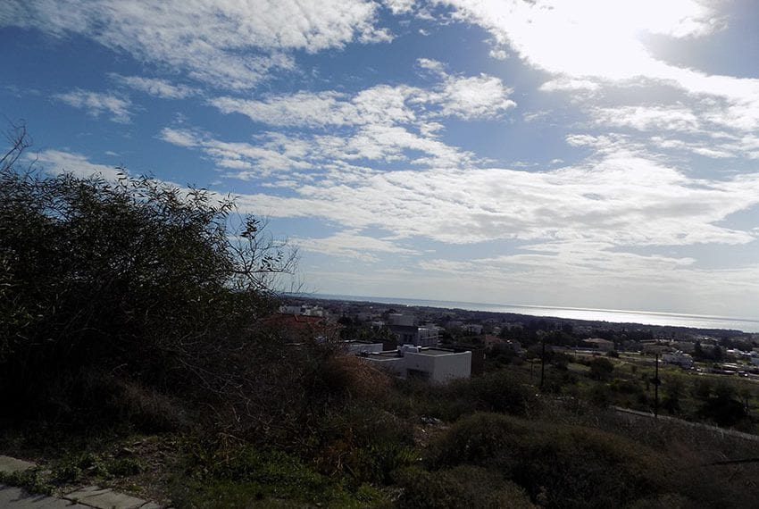 Great sea views plot for sale in Yerokipou, Paphos