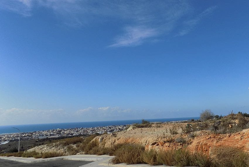 Residential plot for sale with sea views Konia, Paphos