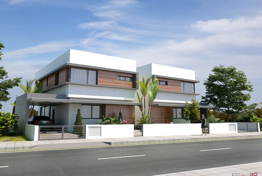 Modern house for sale in Larnaka, guaranteed title deeds10