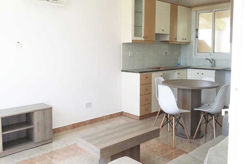 One bed top floor apartment for sale Paphos