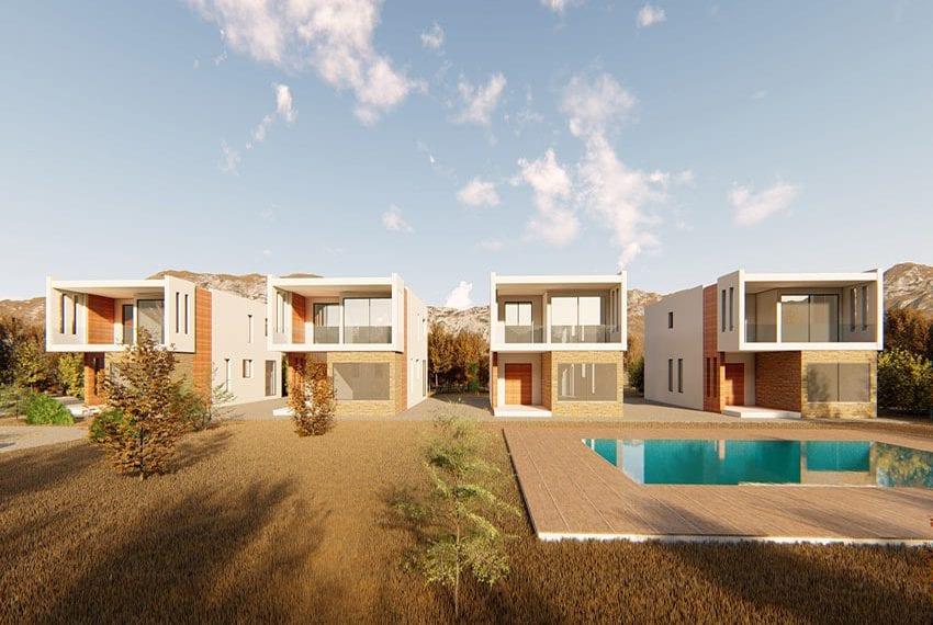 3 bedroom sea view villas for sale Pafos, Chloraka