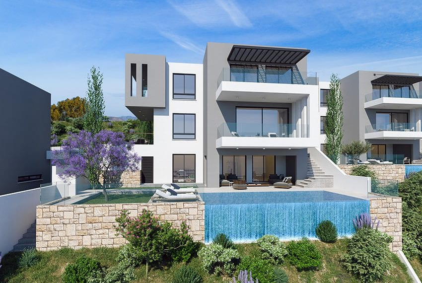 Villas for sale with panoramic sea views Tala, Paphos02
