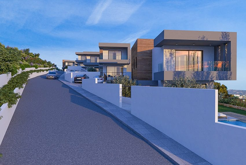 Villas for sale with panoramic sea views Tala, Paphos03