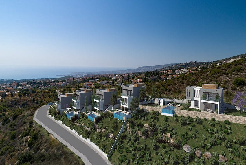 Villas for sale with panoramic sea views Tala, Paphos09