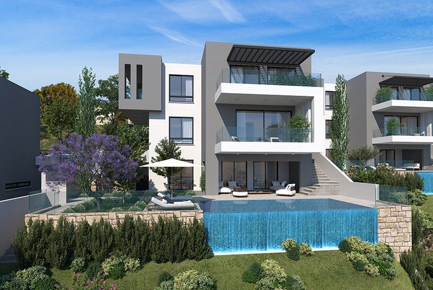 Villas for sale with panoramic sea views Tala, Paphos12