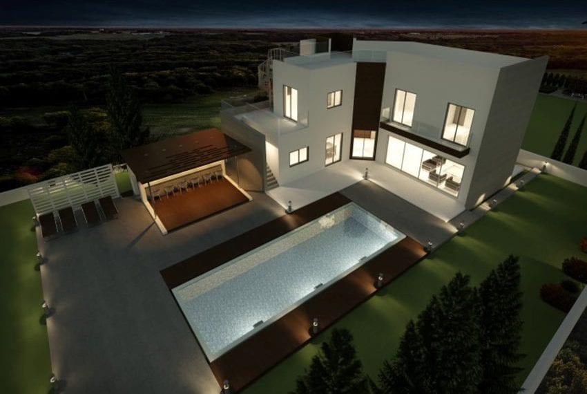 Spacious 4 bed luxury villa for sale on large plot Sea Caves