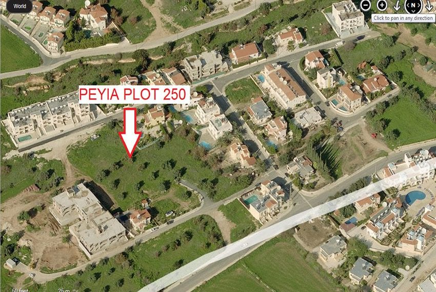 Large residential plot of land for sale in Peyia, Cyprus