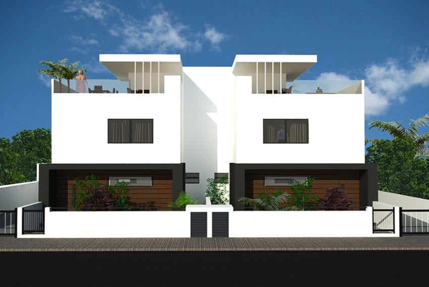 3 bedroom villa for sale with roof garden Limassol