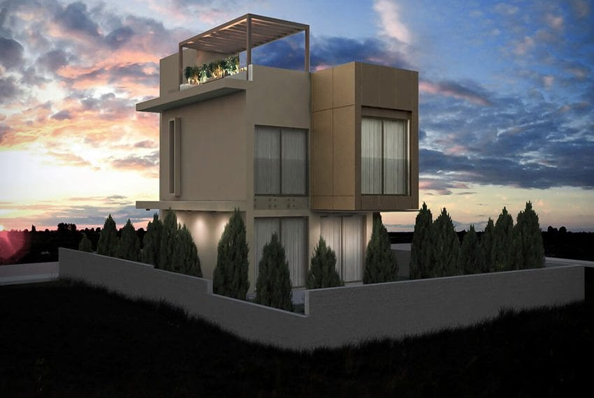 Modern housing estate in Parekklisia Limassol