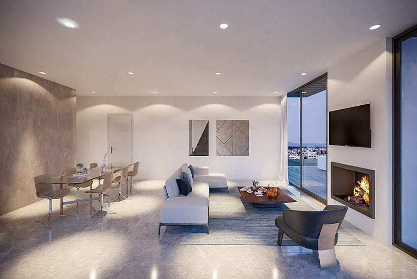 Luxury 3 bedroom penthouse for sale Pafos