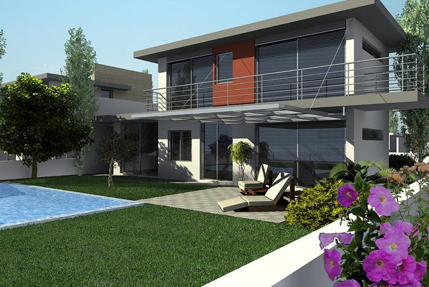Modern 3 bedroom villa with private pool in Larnaka