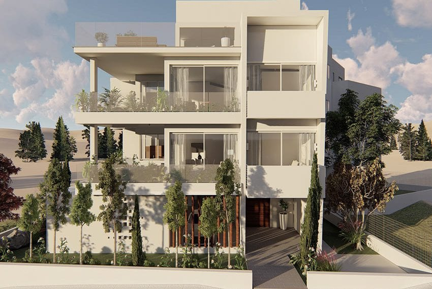 Modern 4 bed apartments for sale in Konia Paphos