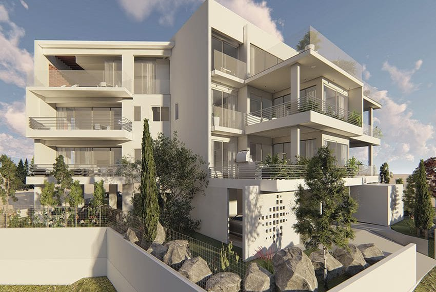Modern residential building for sale in Konia Paphos