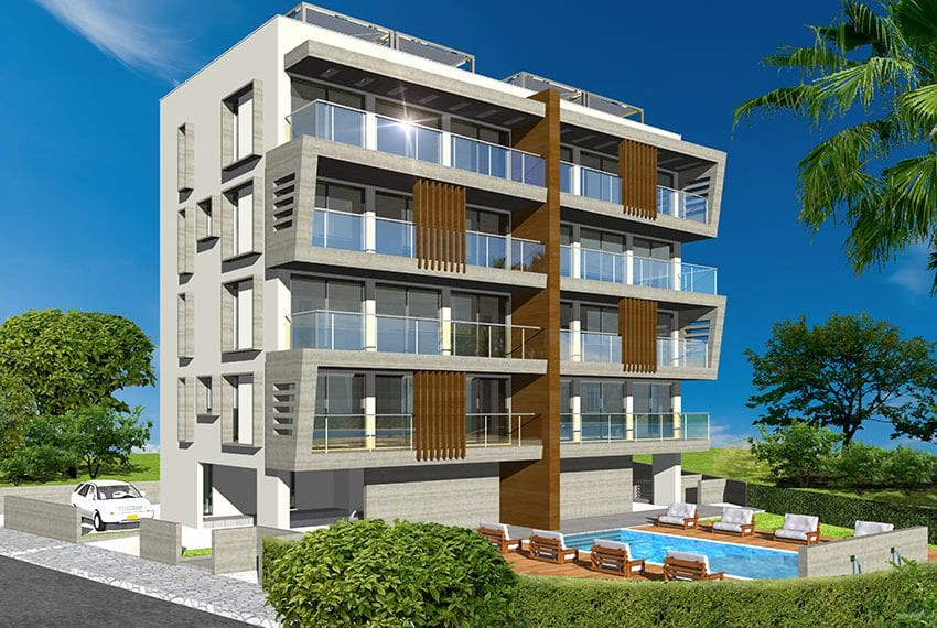 Sea front city apartments for sale Cyprus