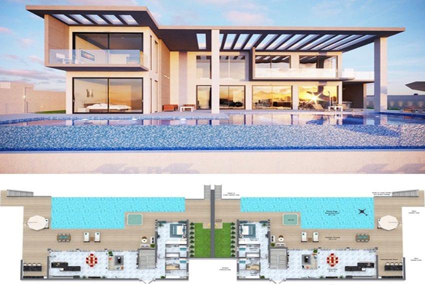 Luxury villa for sale Peyia hillside