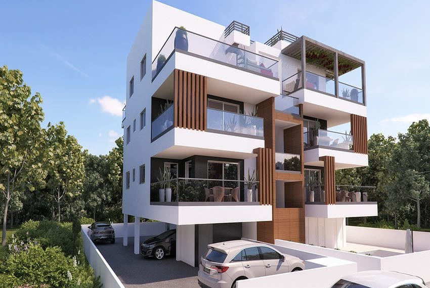 Modern apartments for sale near Pafos mall01