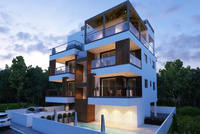 Modern apartments for sale near Pafos mall09