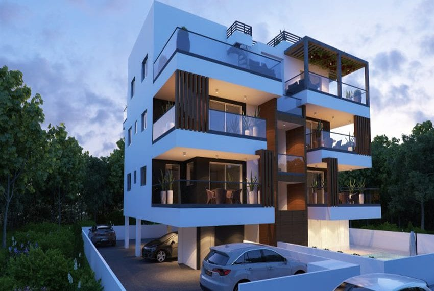 Modern apartments for sale near Pafos mall10