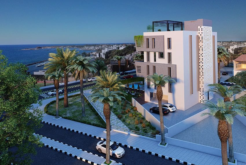 Beach front residential block of flats for sale Paphos