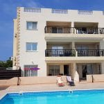 King sunset Pafos garden apartment for sale