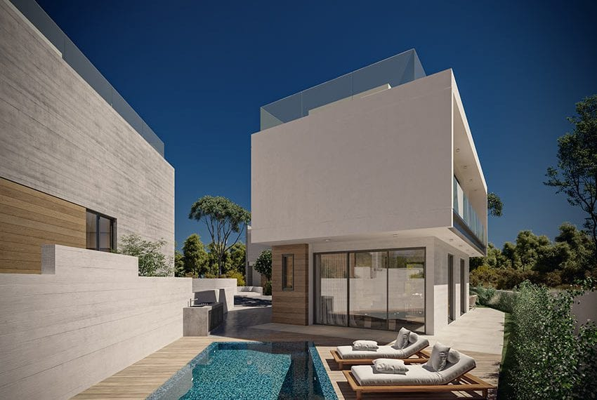 Modern villas for sale with private pool Konia Pafos