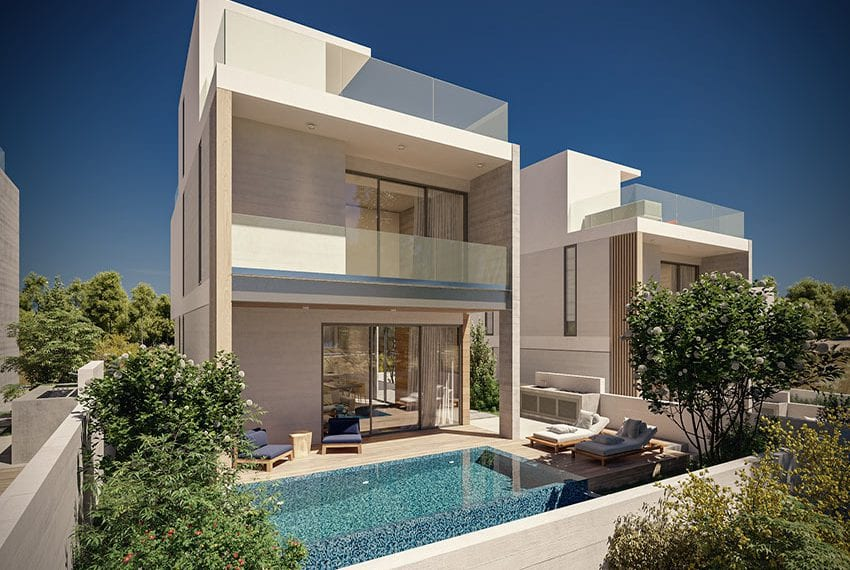 Modern villas for sale with private pool Konia Pafos01