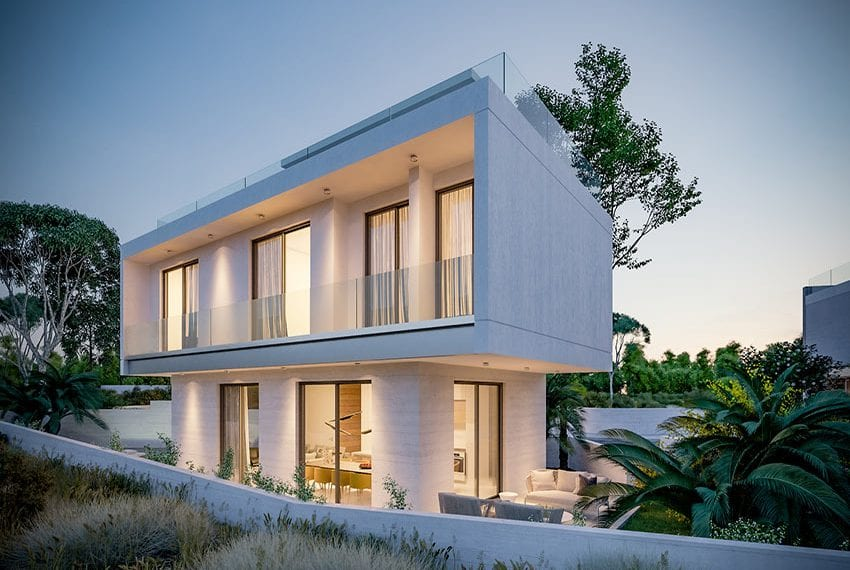 Modern villas for sale with private pool Konia Pafos02
