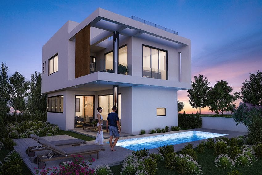 Luxury villas for sale near Paralimni marina01
