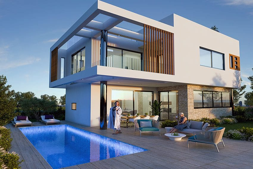 Luxury villas for sale near Paralimni marina21