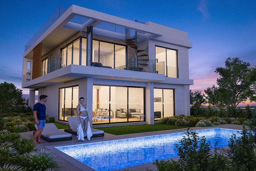 Luxury villas for sale near Paralimni marina30