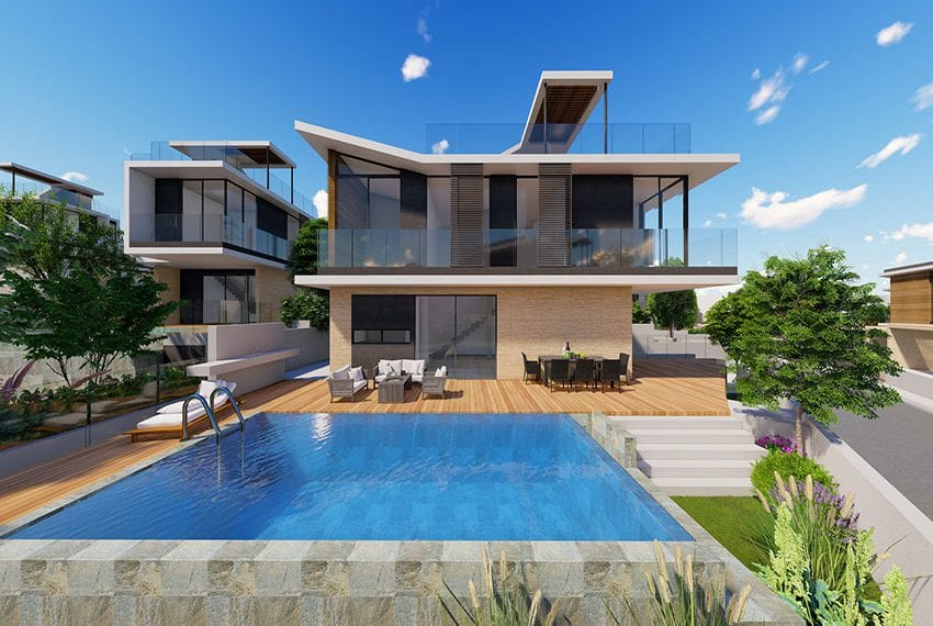 Paphos coast luxury villas for sale