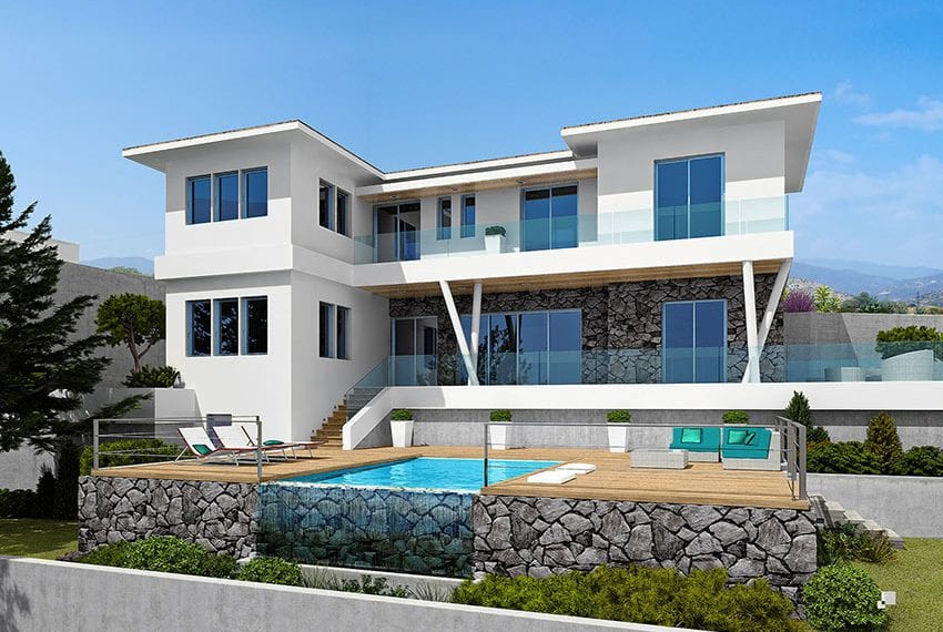 Luxury villas for sale in Limassol with private pool and sea views23